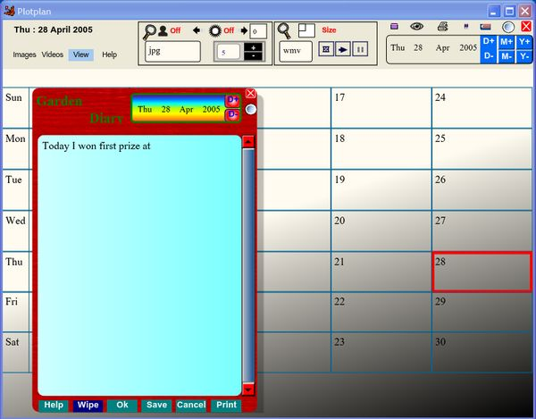Plotplan Screen shot